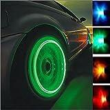 WINOMO 4pcs Auto Car Motorcycle Tire Valve Cap Cover Lights Lamps