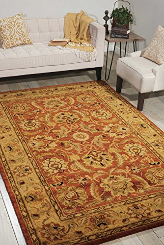 Nourison Jaipur (JA29) Rust Rectangle Area Rug, 8-Feet 3-Inches by 11-Feet 6-Inches (8