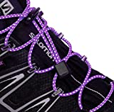 No Tie Elastic Shoelaces by Lemon Hero - Choice of Reflective Colors. Our No Tie Elastic Shoe Laces Fit all Shoes and Boots. (Purple)