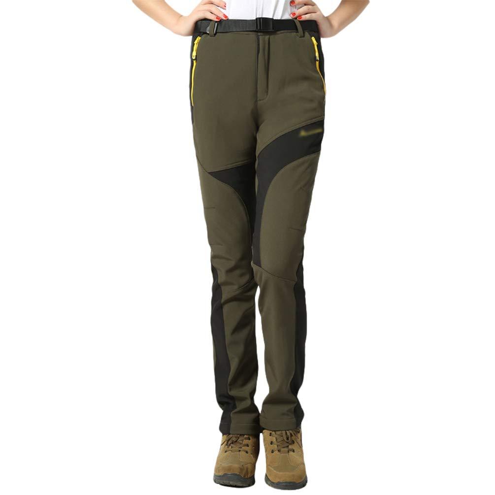 Tookang Pantaloni da Sportivi Impermeabili Foderati Antivento Traspiranti Caldi Antiabrasione Vello Pantaloni da Sci Trekking Autunno/Inverno