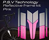 ATPC Japan Reflective Frame Kit A Set of Reflective Labels corresponding to All Kinds of Bicycle Frames Improve Safety of Night Driving of Road Bike, MTB, P.S.V Technology (Pink)