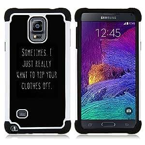 - sexy love black white you text hot - - Doble capa caja de la armadura Defender FOR Samsung Galaxy Note 4 SM-N910 N910 RetroCandy