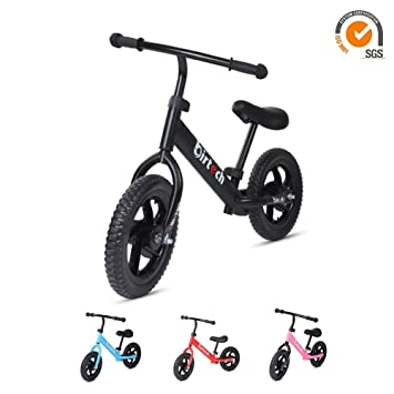 c681563c40a Joolihome Balance Bike for Boys, No Pedals Balance Bike, Lightweight  Adjustable Walking Bicycle, for Kids Ages 2 3 4 5 6 Years Old - Black:  Amazon.co.uk: ...