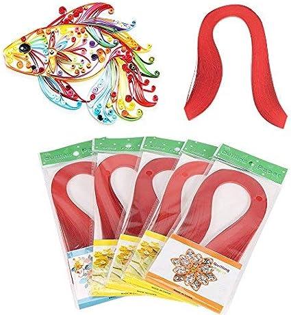 600 Streifen 3mm Breite Pure Color Origami Papier Bunte Kunstdruckpapier Streifen DIY Papier Hand Craft Dekoration HEEPDD Papier Quilling Streifen Elfenbeinwei/ß