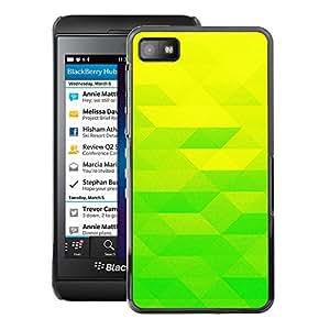 For Blackberry Z10 Case , Yellow Lime Green - Diseño Patrón Teléfono Caso Cubierta Case Bumper Duro Protección Case Cover Funda