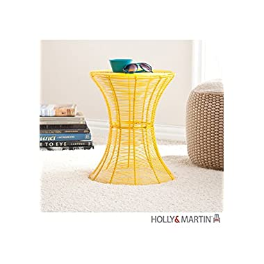 Southern Enterprises Round Indoor-Outdoor 18.5  Metal Accent Table