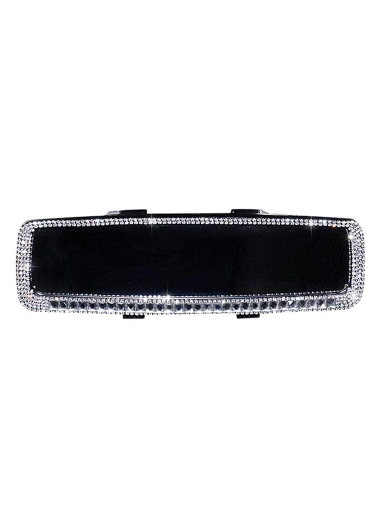 Universal Diamond Decoration Rear View Mirror Car Styling Interior Accessories Adaptable cary-yan Bling Rhinestones Car Rearview Mirror for Women