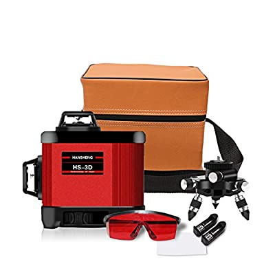 XKYU Laser Level Self-leveling-12 Lines 360 Horizontal And Vertical Cross Super Powerful Red Laser Beam Line