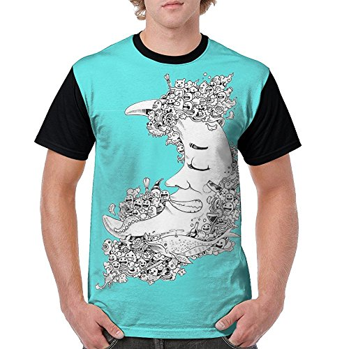 Aoaoozu8 Mens Funny Moon Night Funny T-Shirts Black Size - Wesley Chapel Stores