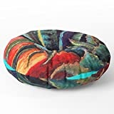Society6 Southwest-western Style Desert Agave In Sunrise Floor Pillow Round 30'' x 30''