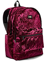 Victorias Secret PINK Velvet Campus Backpack Ruby