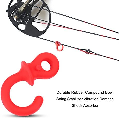 4Pcs Compound Bow String Stabilizer Silencer Monkey Tails Bow Damping PLF Fq