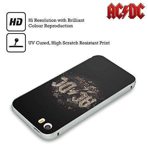 Officiel AC/DC ACDC Rock Ou Briques En Faillite Art D'album Argent Étui Coque Aluminium Bumper Slider pour Apple iPhone 5 / 5s / SE