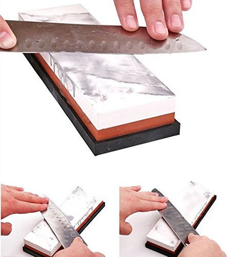 2-in-1/1000//3000/Grit Naniwa coltello cote con doppio lato con gomma per affilatura e lucidatura utensili da cucina Floratek affilacoltelli