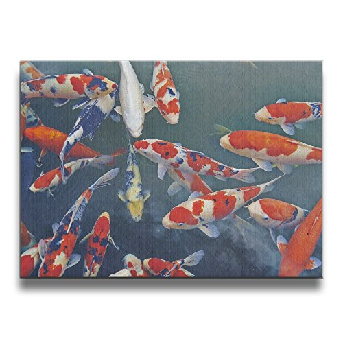SG ULTIMATE Koi Fish Frameless Modern Artwork Abstract Decorative Oil Paintings For Kitchen Living Room Bedroom Decoration Home Decor