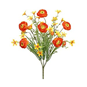 "14"" Ranunculus Bush x6 Orange (pack of 12) 105"