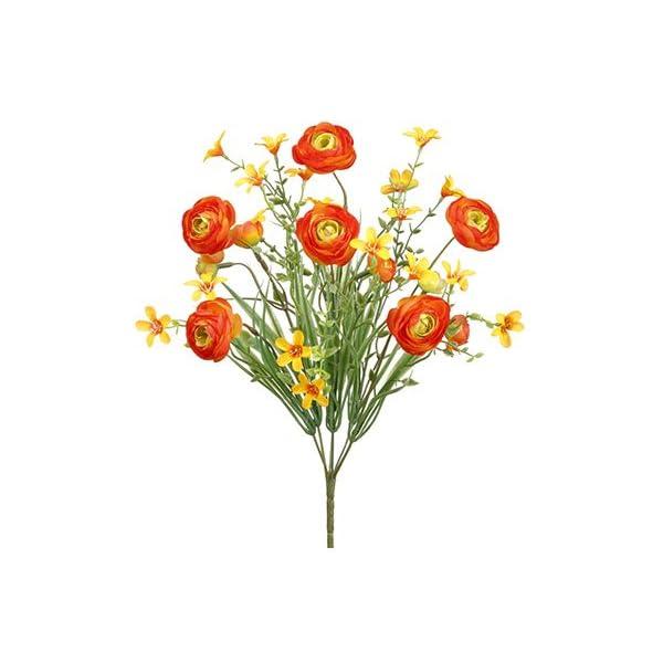 14″ Ranunculus Bush x6 Orange (pack of 12)