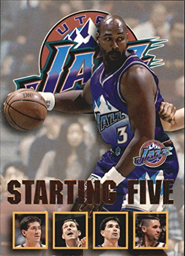 1996-97 Hoops Starting Five #27 Jeff Hornacek Adam Keefe Karl Malone Greg Ostertag John Stockton Utah Jazz - NM-MT