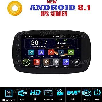 Radio para coche Android 7.1 con navegador GPS, USB, Wi-Fi, Bluetooth para Smart Fortwo W453 2014, 2015, 2016 y 2017: Amazon.es: Electrónica