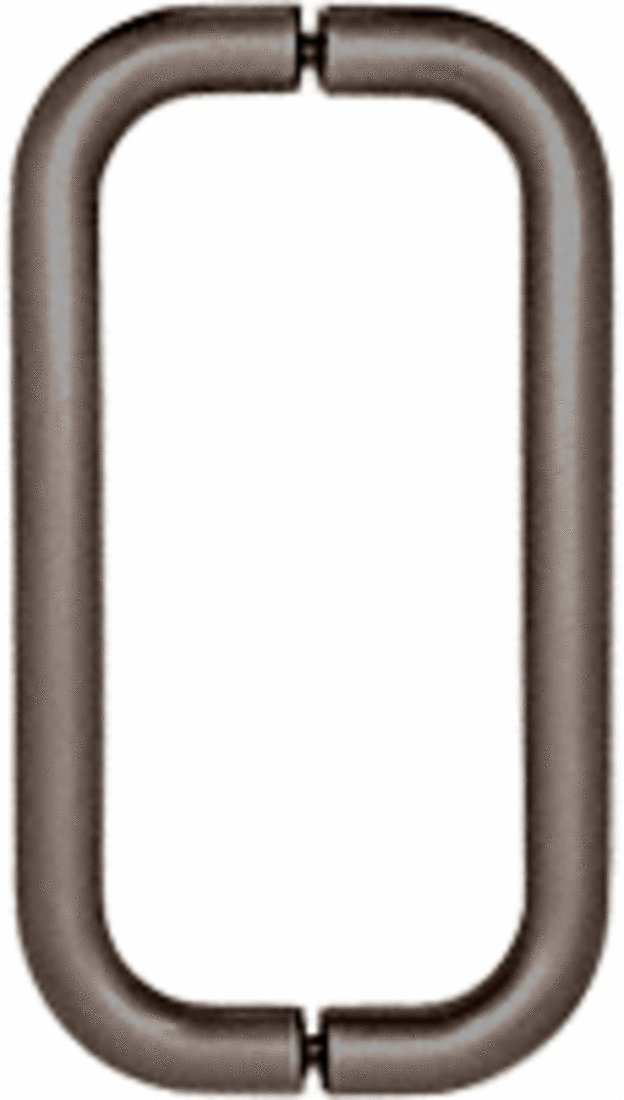 CRL 8'' Oil Rubbed Bronze (BM Series) Back-to-Back Tubular Handle without Metal Washers