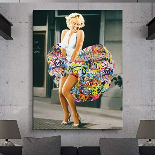 Art Matte Giclee (IKONICK Marilyn Monroe - Graffiti Dress Canvas Art - 12