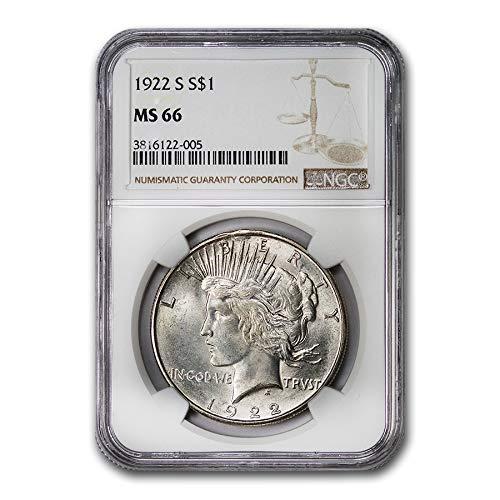 (1922 S Peace Dollar MS-66 NGC $1 MS-66 NGC)