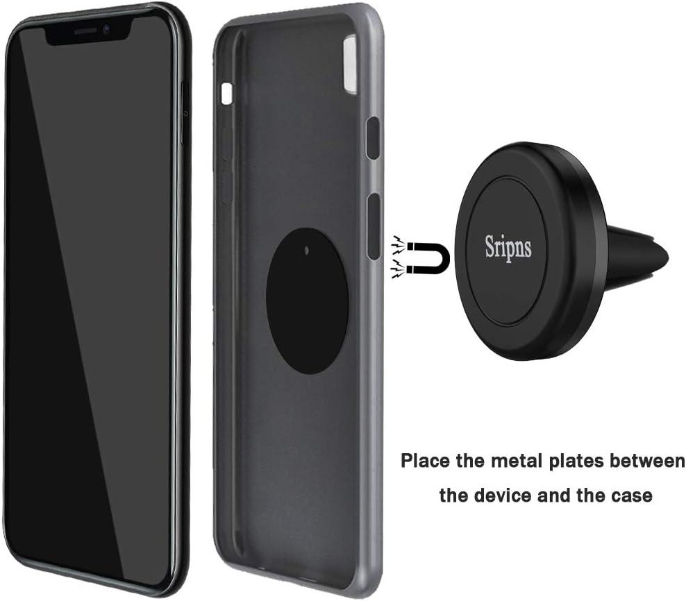 Huawei et Les Autres Smartphones et GPS 2 Packs Support Voiture Magn/étique,SRIPNS Support T/él/éphone Voiture Aimant/é /à Grille Da/ération Universel pour iPhone X//5s//6s//7//8//6 Plus,Samsung Galaxy S8,LG