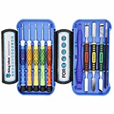 Kingsdun 10 in 1 Magnetic Precision Screwdriver Set Repair Kit include Pentalobe Tripoint Flathead with Metal Spudger Tool & ESD Tweezer Set for Iphone & other small electronics