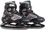 Ultega Adult Ice Skates, Black/Gold, 9.5-10.5