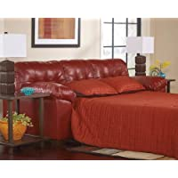 Signature Design by Ashley Alliston DuraBlend Sleeper Sofa, Queen, Salsa