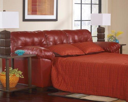 Signature Design by Ashley Alliston DuraBlend Sleeper Sofa, Queen, Salsa