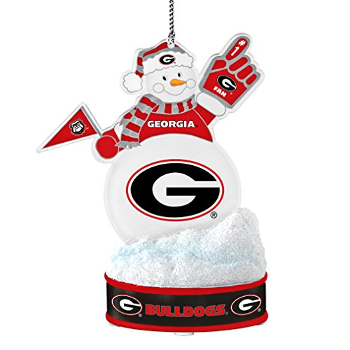 NCAA Georgia Bulldogs LED Snowman Ornament