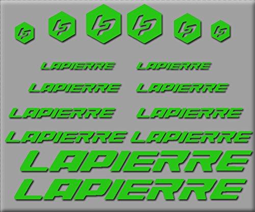 Ecoshirt 39-0JRL-HGIT Stickers Lapierre R250 Stickers Aufkleber Decals Autocollants adh/ésifs Vert