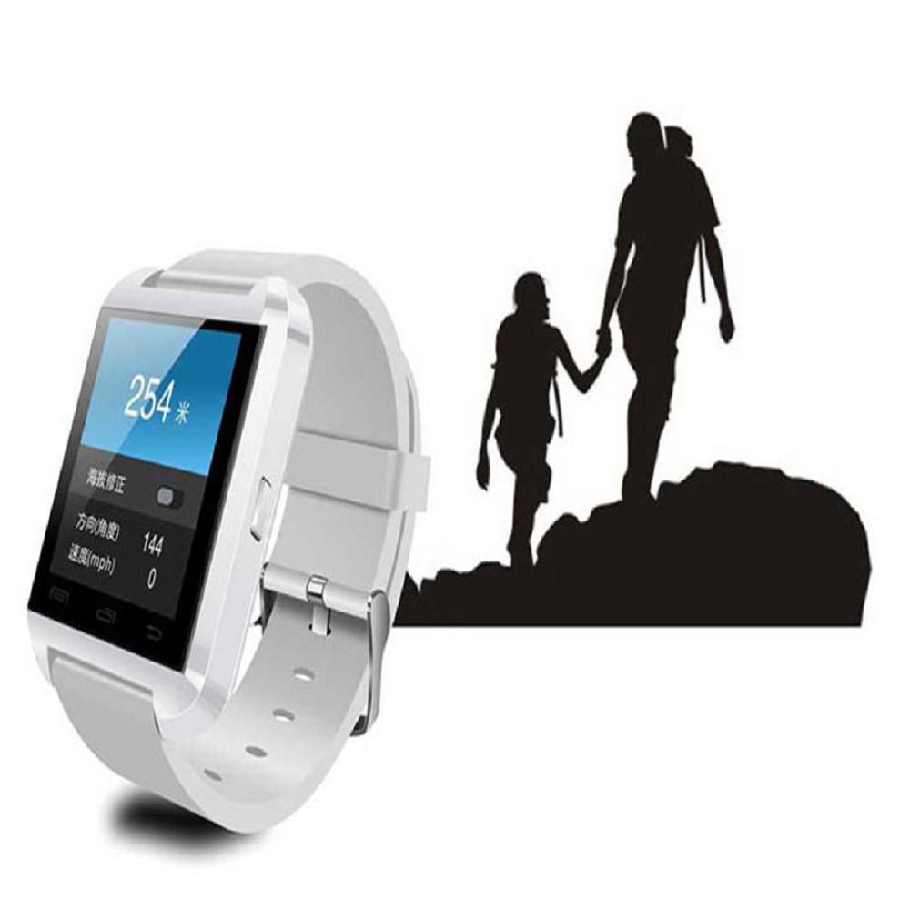 Bluetooth Smart Watch con soporta tarjeta SIM tarjeta de pulsera teléfono reloj pantalla táctil Smartwatch podómetro pulsera para Android Smartphones ...