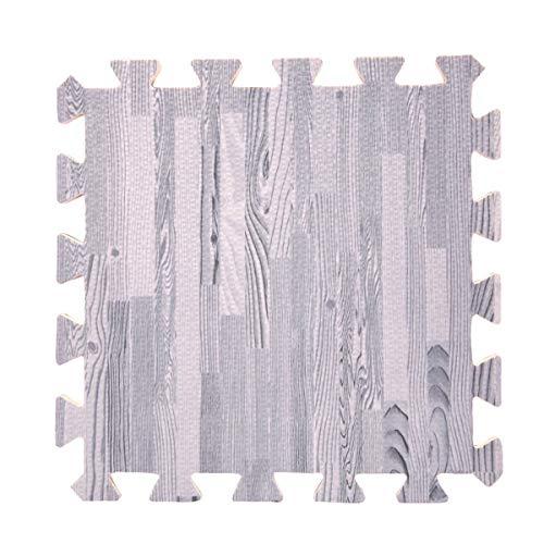 LKXHarleya Waterproof Wood Grain EVA Foam Play Puzzle Mat,Kids Tummy Time Exercise Interlocking Floor Mats,No Toxic Cork Printed Protective Flooring Tiles,30 (Best Cork Floorings)