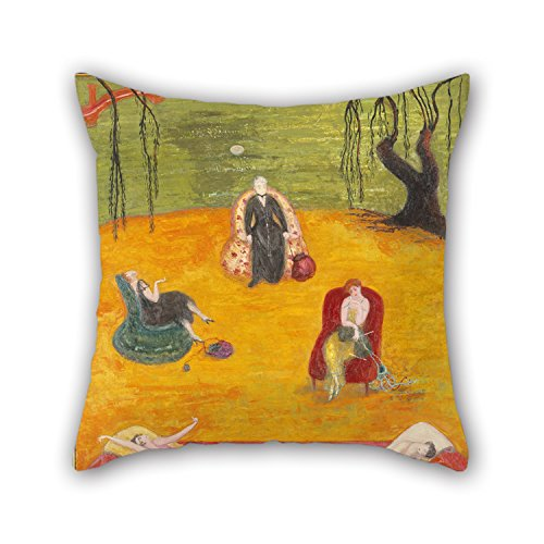 Uloveme 18 X 18 Inches / 45 By 45 Cm Oil Painting Florine Stettheimer - Heat Throw Pillow Case ,two Sides Ornament And Gift To Coffee House,kids Room,car - Shells Natural Needlepoint