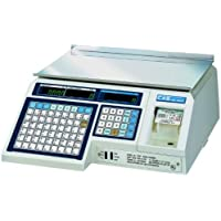 CAS LP-1000N Label Printing Scale Legal for Trade , 30 x 0.01 lb with a FREE 1 case CAS LST-8010 UPC Label, 58 x 40 mm