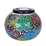 Salaks【Ship from Ca or NJ Color Changing Solar Powered Glass Ball Led Garden Lights, Rechargeable Solar Table Lights, Outdoor Waterproof Night Lights Table Lamps for Decorations, Gifts (Multicolor)