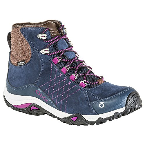 Oboz Women's Sapphire Mid Waterproof Hiking Boots Huckleberry Purple 8 by Oboz