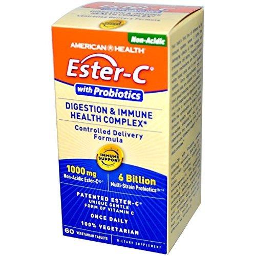 American Health Ester C and Probiotics, 1000 mg, 60 Count