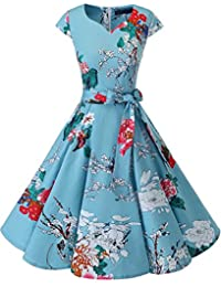 Retro 1950s Cocktail Dresses Vintage Swing Dress with...