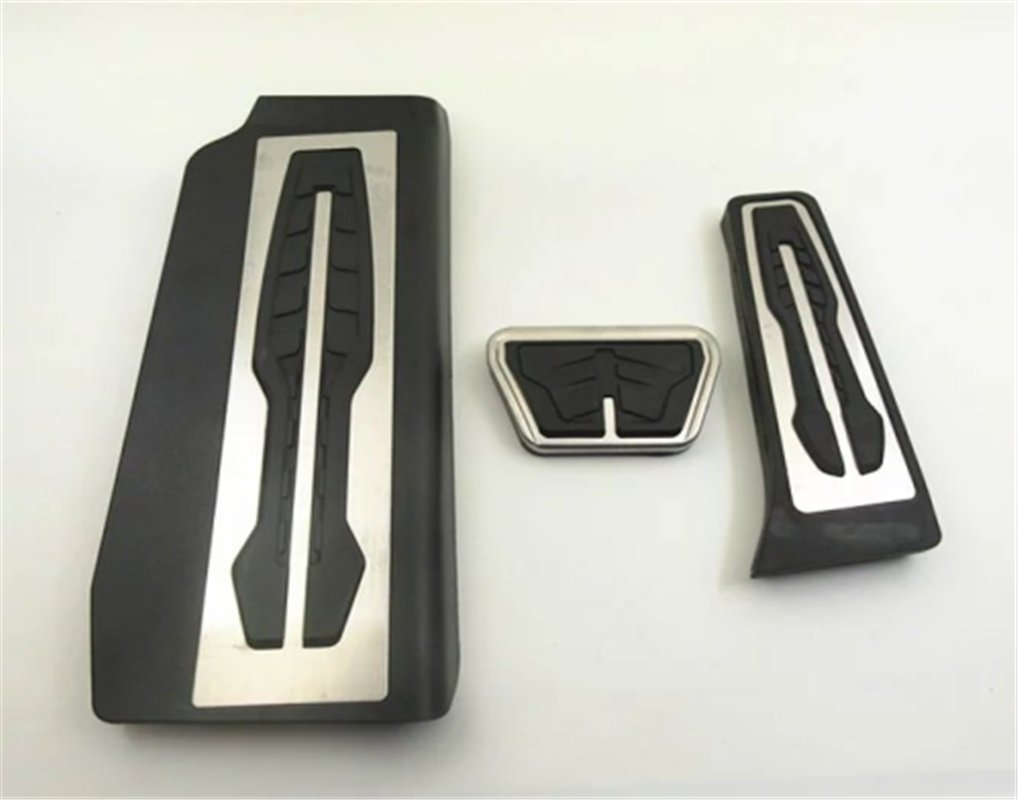 Ushopkins AT No Drilling Automatic Car Gas Brake Pedal Cover Accelerator Brake Foot Rest Pedals Covers For BMW E60 5 7 Series F10 X3 X4 Z4
