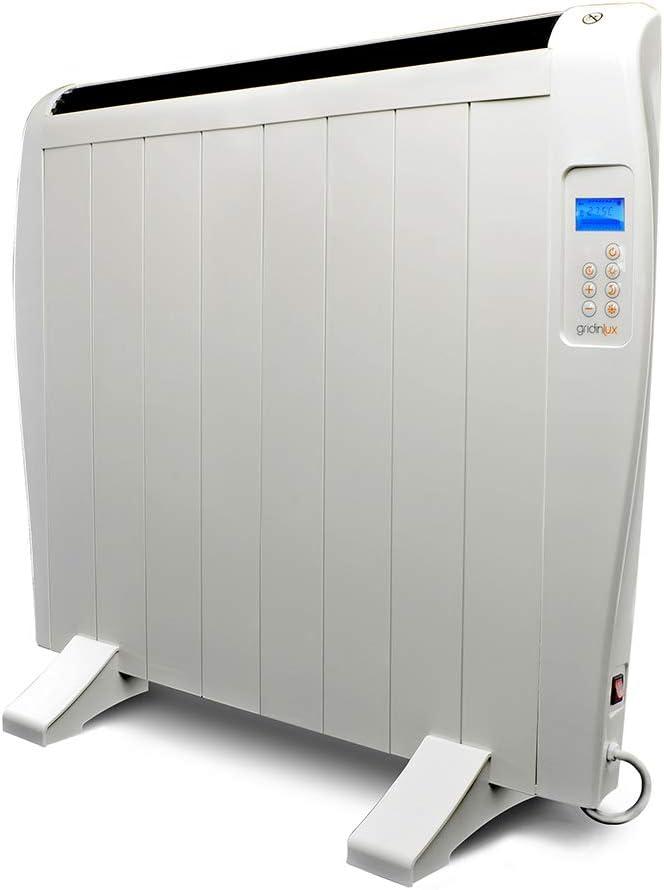 gridinlux. Homely Atmosphere 1200W. Emisor Térmico, Radiador Eléctrico, 8 Elementos, 3 Modos, Mando de Control, Temporizador, Pantalla LED.