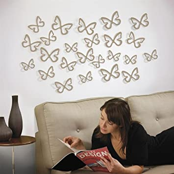 Umbra   farfalle decorative per parete, 24 pz: amazon.it: casa e ...