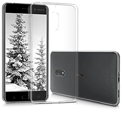 kwmobile Crystal Case Cover for Nokia 6 made of TPU Silicone - transparent clear Protection Case in transparent by KW-Commerce
