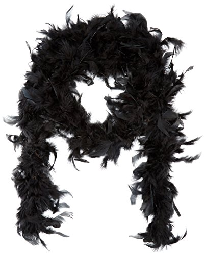 PAVILIA 6' Black Play Fancy Dress Up Toy Feather Boa (2 -