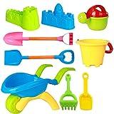VGHJK Children's Beach Toy Set Baby Child Play Sand Tool Plastic Combination Boy Girl Bath Toy(random Color),D