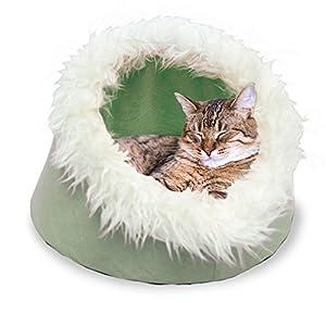 Furhaven Pet – Calming Foldable Fleece Pet Tent, Convertible Hood Bed, Hide & Seek Velour Cat Cave, & More Choices for…