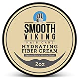 Hair Styling Fiber for Men - Pliable Molding Wax Product with Medium Hold & Minimal Shine - For Modern Hairstyles - Thickens, Texturizes & Increases Fullness in Thinning Hair - 2 OZ - Smooth Viking