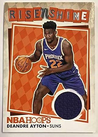 4e6404f2b 2018-19 Panini Hoops Rise N Shine Memorabilia Basketball Card  1 Deandre  Ayton Jersey